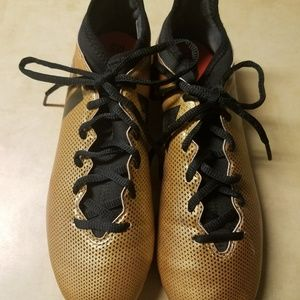 Adidas soccer cleats gold size 7.5